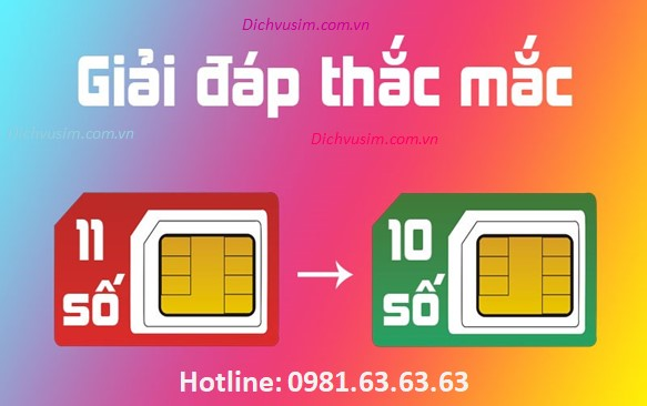 Danh sách đầu số điện thoại mới khi chuyển 11 số về 10 số của Viettel, Mobifone, VinaPhone, Vietnamobile, Gmobile