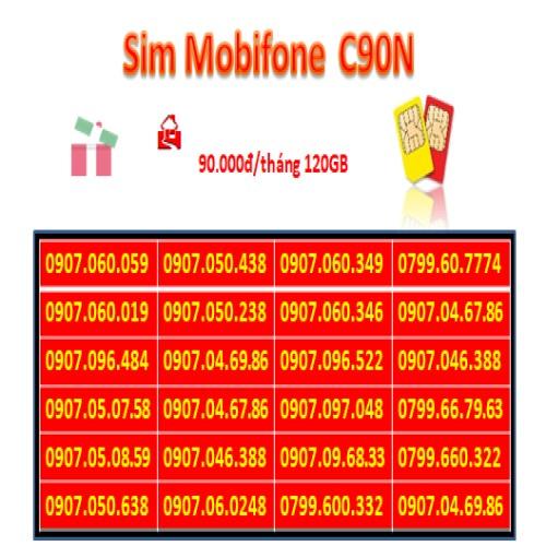 Xả kho Sim Mobiphone có sẵn 120GB/tháng, gọi nội mạng miễn phí.