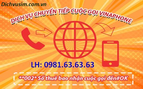 Hướng dẫn chuyển tiếp cuộc gọi Vinaphone miễn phí