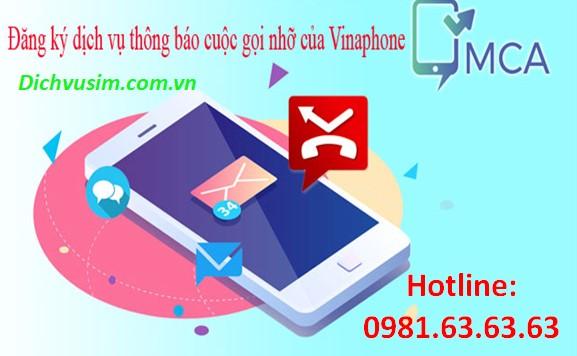 Dịch vụ thông báo cuộc gọi nhỡ Vinaphone – dịch vụ MCA Vinaphone