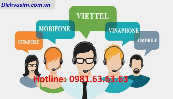 Số tổng đài các mạng: Viettel, Mobifone, Vinaphone