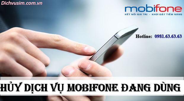 Cách Hủy Các Dịch Vụ Đang Đăng Kí Của Mobifone