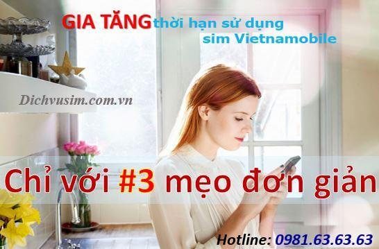 #3 Cách Đơn Giản Nhất Để Gia Tăng Ngày Sử Dụng Sim Vietnamobile